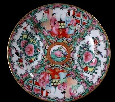 Ancienne assiette famille rose canton Chine Old chinese porcelain plate
