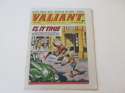 VALIANT COMIC  -  OCT 25th 1969 + THE WHIZZER & CHIPS ( No 2 ) 4 page flyer, VGC