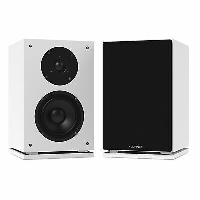 Fluance SX6WH High Definition Two-way Bookshelf Loudspeakers (White)
