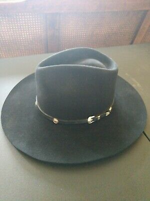 27123d1516dca BAILEY - STONEY Black Premium Wool Felt Cowboy Hat