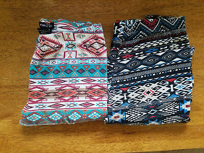 9df97f3c87b31 WOMEN'S RUE 21 Geometric Tribal Print Leggings – Size S lot of 2 ...