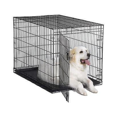 """Dog Folding Crate Kennel Small Extra Large Dog Single Door Training Metal 48"""""""