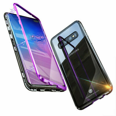 942a41bd041 Magnetic Adsorption Case For Samsung S10 S10+ Plus Double Sided Tempered  Glass