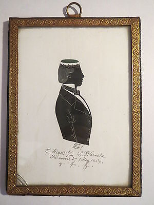 Hannover - Corps Saxonia - 1854 - C. Heyse - Silhouette / Studentika