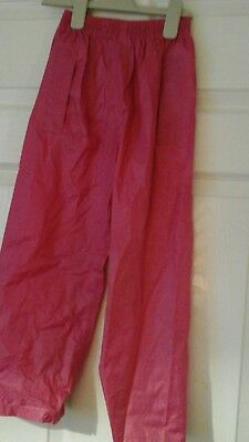 Girls pink waterproof trousers age 5 to 6 years