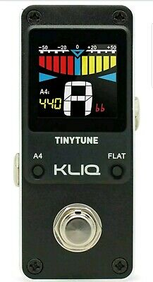 KLIQ TinyTune Tuner Pedal for Guitar and Bass - Mini - Chromatic
