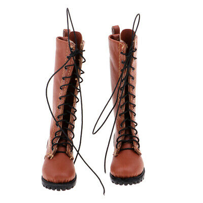 1:6 Scale PU Leather Male Boot for 12'' Phicen/Kumik Figure Body Toy Doll B