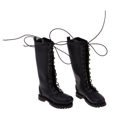 1:6 Scale PU Leather Male Boot for 12'' Phicen/Kumik Figure Body Toy Doll A