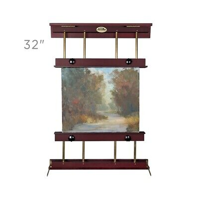 Rue Wall Display & Painting Easel Medium 32in Wide Canvas up to 40in Mahogany