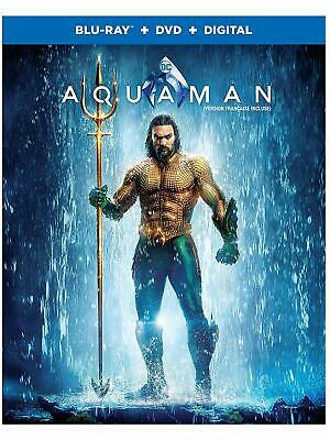 Aquaman (Bilingual) [Blu-Ray + DVD + Digital] NEW & SEALED - STEF-408(STEF-16)