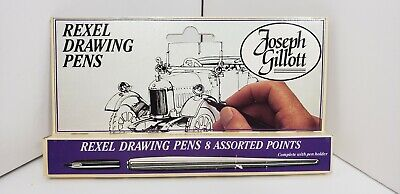 Joseph Gillott Rexel Drawing Pens Dip Points Nibs Pen Holder Calligraphy