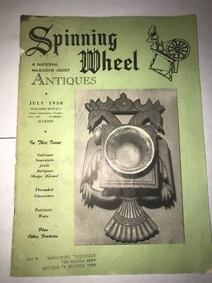 Spinning Wheel Magazine July 1958 Antiques Collectibles