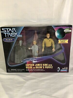 Classic Star Trek Corbonite Maneuver Display with 3 Action Figures NIP