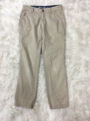 Eddie Bauer Women's Blakely Fit Button Khaki Beige Pants Uniform Size 2