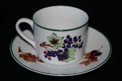 Royal Worcester Evesham Vale Tea Cup And Saucer - Vgc