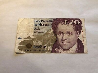 Bank of Ireland 20 Pound 1992 - Early Date