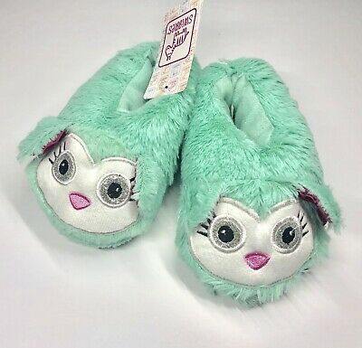 a8de43866 Girls Size Toddler Medium 7/8 Owl Animal House Slippers Warm Fuzzy Slip on  Shoes