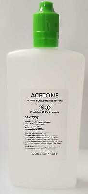 100% Pure Acetone Superior Quality Nail Polish Remover UV/LED GEL Soak Off 250ml