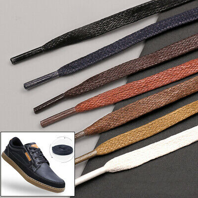 1Pair shoelaces flat round leather shoes shoe strings 80cm /100cm/120cm/150cm vh