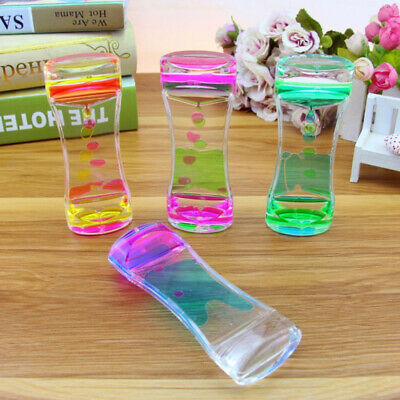 Mix Illusion Floating Color Liquid Timer Oil Hourglass Sensory Toy Desktop Decor