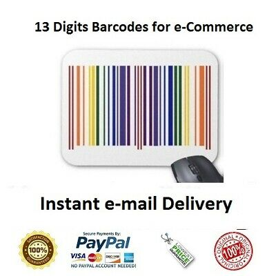 1000 UPC EAN Numbers Barcodes Bar Code Number for e Commerce US UK EU CA IN TR