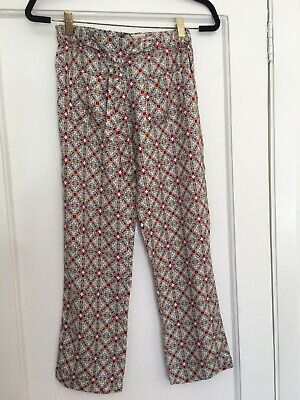 Fab Zara Girls floral print soft viscose pants trousers age - 13 - 14 years
