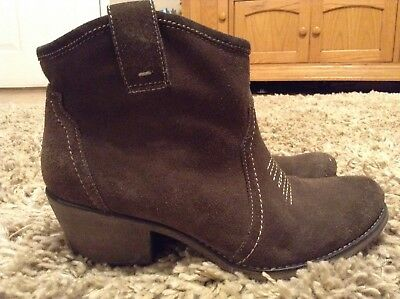 46e1030f4db GIANNI BINI BROWN Leather Slip On Harness Ankle Riding Boots Womens ...