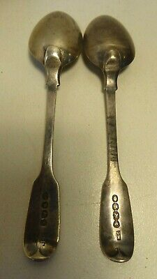 Antique Georgian Sterling Silver Teaspoons  Hallmarked Mary Chawner London 1837
