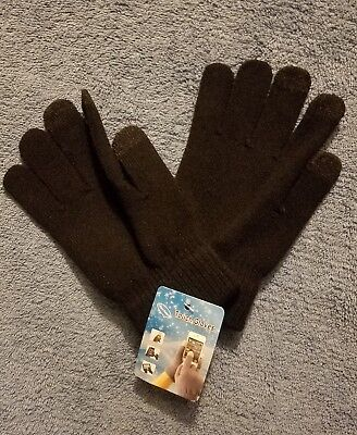 Women Winter Warmer Knit Knitted Casual Gloves Stretch One Size Black