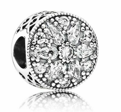 SALE!! Pandora Sterling Silver Radiant bloom Crystal Charm 791762CZ  Mothers Day