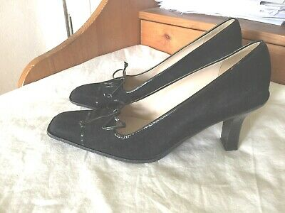 59c82d4aa45 CHANEL SANDALS SIZE 39.5-9.5 HEELS MULES SLIP-ON Black leather 10