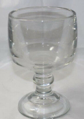 """Vintage 3lb 11oz Bar Beer Goblet Glass 1/4"""" Thick Heavy Rare 6 3/4"""" tall"""