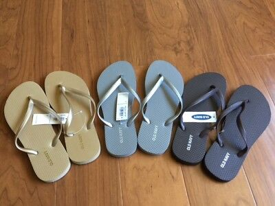 2e3d77ea4 Old Navy Classic Flip Flops for Women Sandals Gold Silver or Brown Sz 6 NEW