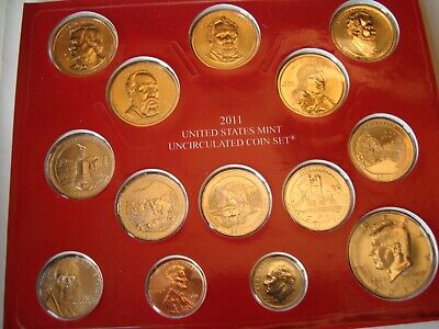 2011 PHILADELPHIA & DENVER US MINT UNCIRCULATED COMPLETE SET 28 Coins & COA