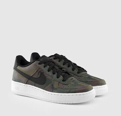 new style 68766 a0b9c New Nike Air Force 1 LV8 Olive Green Black Big Kids Athletic Sneakers 820438 -204
