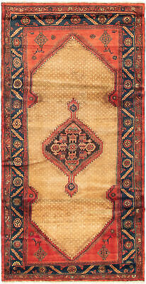 """Hand-knotted Persian Carpet 3'11"""" x 7'9"""" Koliai Traditional Wool Rug"""
