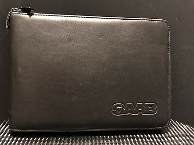 2005 OEM Saab 9-7X Owners Manual with Zippered Imitation Leather Case GC