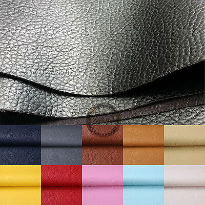 PU Faux Leather Texture Upholstery Fabric Vinyl  A4 Sheet Patchwork Material