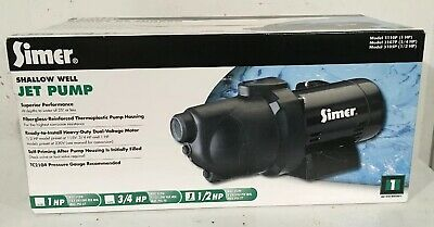 Simer 3105P 1/2HP Shallow Well Jet Pump ~ New in Box