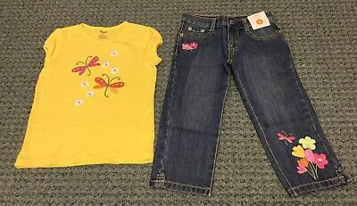 NWT GYMBOREE TEA TIME AFTERNOON PINK YELLOW FLORAL CASUAL CAPRIS SPRING