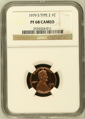 1979 S Type 2 PROOF LINCOLN MEMORIAL CENT NGC PR68 CAMEO