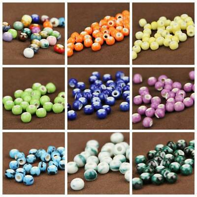 Wholesale 6/10/14mm Round Ceramic Loose Spacer Beads Craft Jewelry Findings