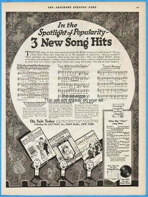 1920 LEO FEIST New York Toronto Howard Johnson songs Ching A