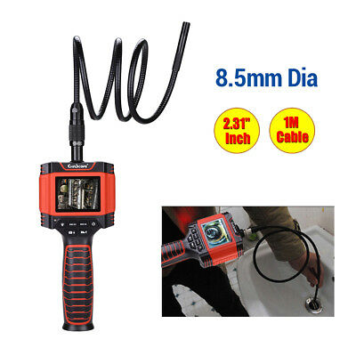 Color LCD Dia 8.5mm 1M Video Inspection Snake Scope Camera Borescope Endoscope