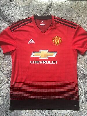 cheap for discount 74add ed7ab ADIDAS CHEVROLET 2018 Manchester United Away Paul Pogba #6 ...