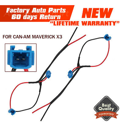2PCS POWER PORT Pigtail Accessory For Can-Am Maverick X3 R 4x4 Car 2017 2018