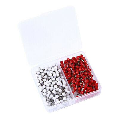 Map Tacks Push Pins with Round Plastic Head and Steel Point Thumbtacks Pin