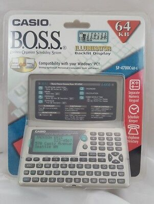 Casio BOSS SF-4700 Business Organizer Scheduling System 64KB Computer Compatible