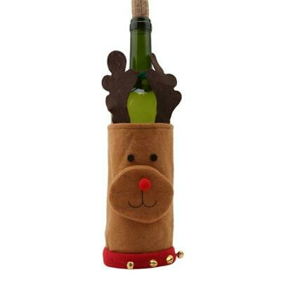 Snowman Christmas Xmas Dinner Table Decoration Wine Bottle Cover Bag Pouch HD