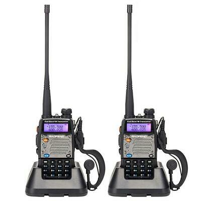 2x BaoFeng UV-5XP Dual Band UHF VHF Two Way Radio 8W Backlit LCD Walkie Talkie